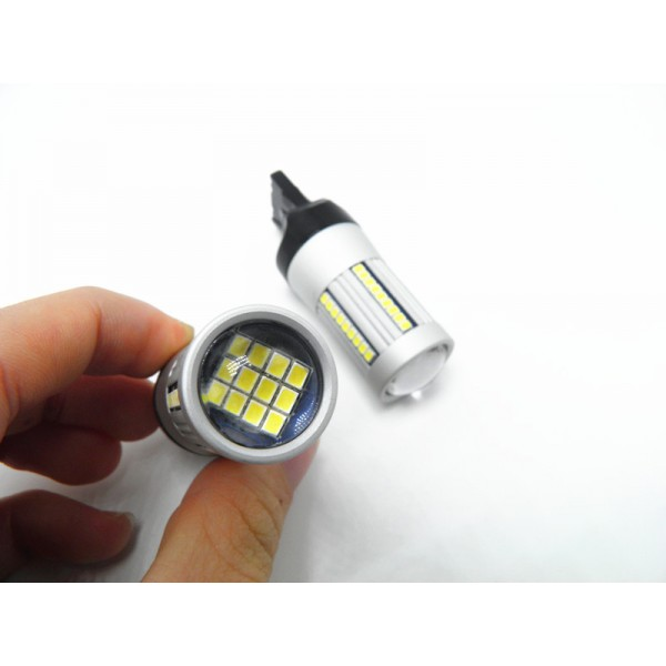 Led W21/5W /  T20 7443 UltraBright CANBUS 99%% Alb