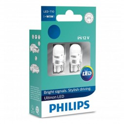 Set Led W5W t10 Philips Ultinon